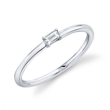 Shy Creation 14k White Gold Diamond Ring