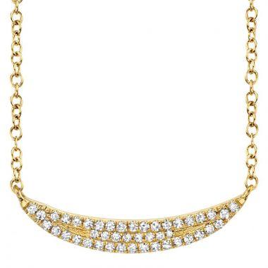 Shy Creation 14k Yellow Gold Diamond Necklace