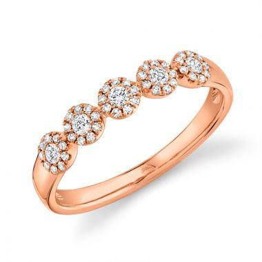 Shy Creation 14k Rose Gold Diamond Ring