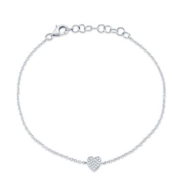 Shy Creation 14k White Gold Diamond Bracelet