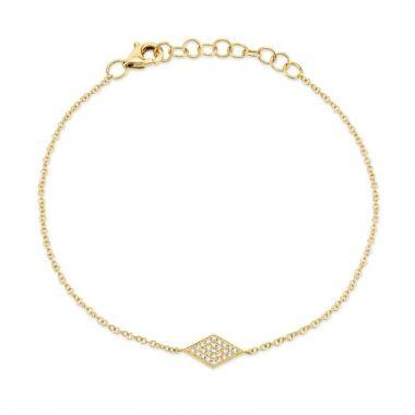 Shy Creation 14k Yellow Gold Diamond Bracelet