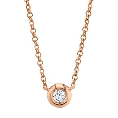 Shy Creation 14k Rose Gold Necklace