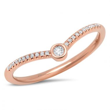 Shy Creation 14k Rose Gold Ring