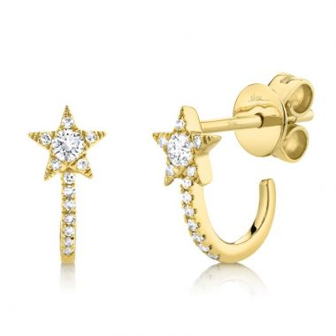 Shy Creation 14k Yellow Gold Earrings