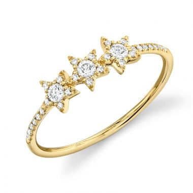 Shy Creation 14k Yellow Gold Diamond Ring