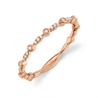 Shy Creation 14k Rose Gold Ring