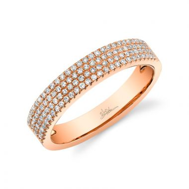 Shy Creation 14k Rose Gold Diamond Ring