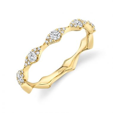 Shy Creation 14k Yellow Gold Ring