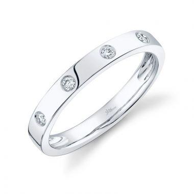 Shy Creation 14k White Gold Diamond Ring