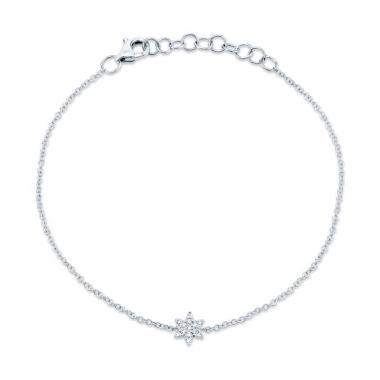 Shy Creation 14k White Gold Diamond Bracelet
