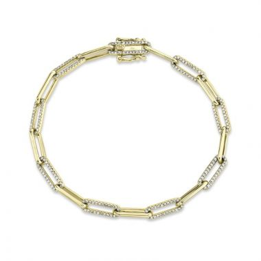 Shy Creation 14k Yellow Gold Bracelet