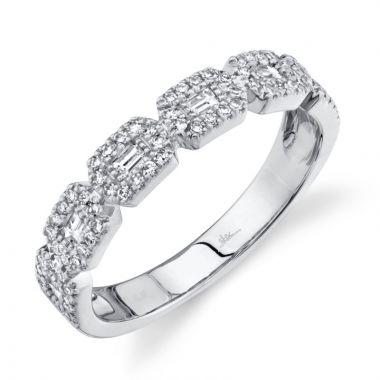 Shy Creation 14k White Gold Ring