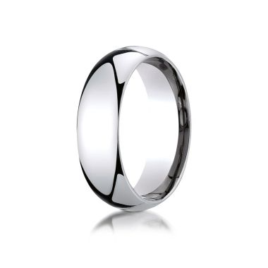 Benchmark 18k White Gold Wedding Band